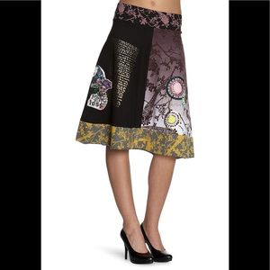 Rare Desigual Banded skirt 2012 line Unique
